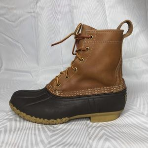 L.L. Bean Brown Duck Boots Size 7